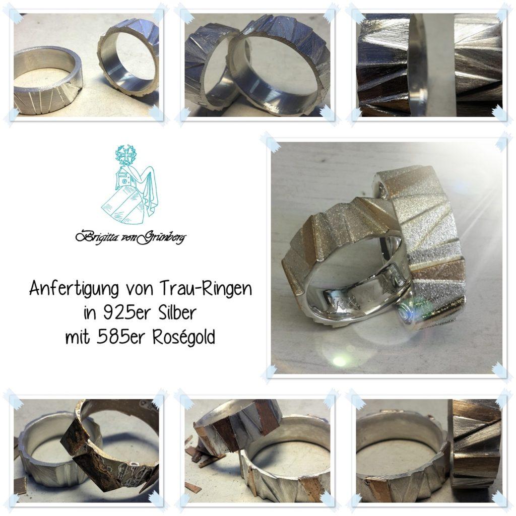 Treppen-Trau-Ringe entstehen