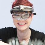 Brigitta von Gruenberg - mit Lupenbrille