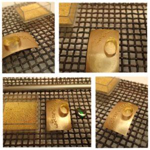 Granulation: Ein Muster aus Kügelchen entsteht