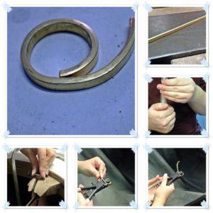 Die Ringe werden gebogen