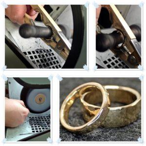 Die Ringe werden poliert